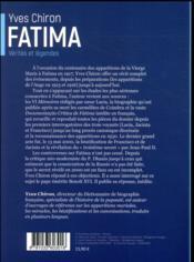 Fatima - 4ème de couverture - Format classique
