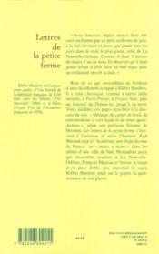 Lettres de la petite ferme - 4ème de couverture - Format classique