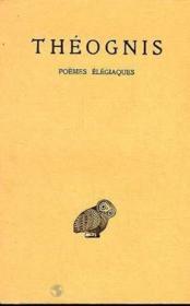 Poemes elegiaques - Couverture - Format classique