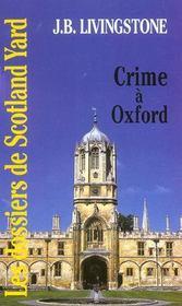 Crime A Oxford - Intérieur - Format classique