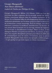 Aux dieux ultérieurs - 4ème de couverture - Format classique