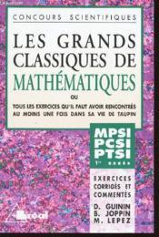 Grands classiques de maths 1ere annee mp pc pt - Couverture - Format classique