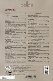 Revue Pallas T.72 ; Le Monde Et Les Mots ; Mélanges Germaine Aujac - 4ème de couverture - Format classique