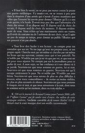 K. 310 ; journal 2000 - 4ème de couverture - Format classique