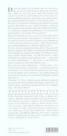 Chroniques de l'olivier - 4ème de couverture - Format classique