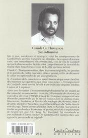 L'enseignement de G. I. Gurdjieff - 4ème de couverture - Format classique