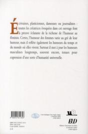Création au feminin t.4 ; les humeurs de l'humour - 4ème de couverture - Format classique