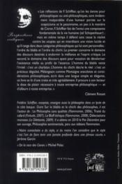 Sur le blabla et le chichi des philosophes (4e édition) - 4ème de couverture - Format classique