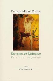 En Temps De Resistance - Couverture - Format classique