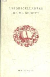 Les miscellanées de mr. Schott - Couverture - Format classique
