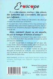 Eroscope. Profils Amoureux Et Tendances Coquines Des Signes Du Zodiaque - 4ème de couverture - Format classique