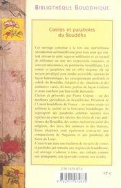Contes et paraboles du Bouddha - 4ème de couverture - Format classique