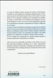 Le deuxième concile du Vatican - 4ème de couverture - Format classique