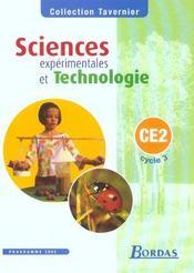 Sciences expérimentales et technologie ; CE2 ; manuel de l'élève (édition 2002) - Intérieur - Format classique