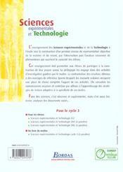 Sciences expérimentales et technologie ; CE2 ; manuel de l'élève (édition 2002) - 4ème de couverture - Format classique