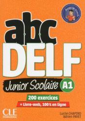 ABC DELF ; FLE ; junior scolaire ; A1 ; livre-web, 100% en ligne (édition 2018) - Couverture - Format classique