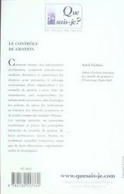 Le contrôle de gestion (2e édition) - 4ème de couverture - Format classique