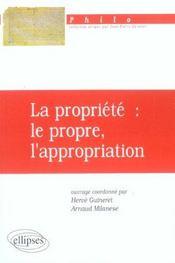 La Propriete Le Propre L'Appropriation - Intérieur - Format classique