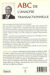 Abc de l'analyse transactionnelle - 4ème de couverture - Format classique