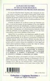 La Place Des Oeuvres Et Des Acteurs Religieux Dans Les Dispositifs De Protection Sociale - 4ème de couverture - Format classique