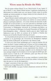 Vivre Sous La Ferule Du Sida ; Combats Et Itineraire D'Une Famille Aux Prises Avec La Maladie - 4ème de couverture - Format classique