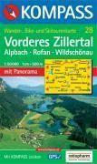 Vorderes zillertal/rofan ; 1/50.000 ; n.28 - Couverture - Format classique