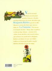 Fables de La Fontaine ; le lièvre et la tortue... et autres fables - 4ème de couverture - Format classique