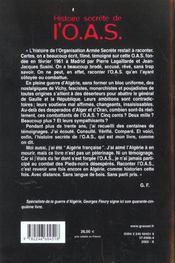Histoire de l'oas - 4ème de couverture - Format classique