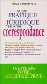 Guide pratique et juridique de la correspondance - Couverture - Format classique
