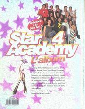 Star Academy 4 ; L'Album - 4ème de couverture - Format classique