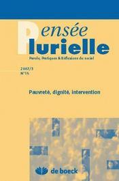 Revue Pensee Plurielle N.16 ; Pauvreté, Dignité, Intervention - Intérieur - Format classique