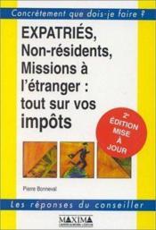 Expatries non residents 2ed - Couverture - Format classique