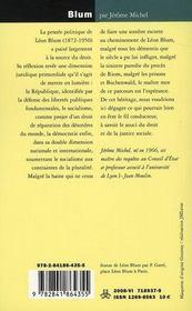 Léon Blum ; un juriste en politique - 4ème de couverture - Format classique