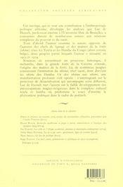 Du pouvoir. anthropologie politique des societes d'afrique centrale - 4ème de couverture - Format classique