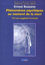 Phenomenes psy. au moment de la mort - Intérieur - Format classique