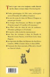 L'enchatclopédie - 4ème de couverture - Format classique