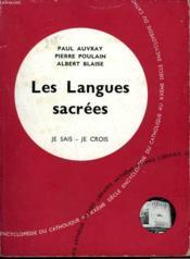 Les Langues Sacrees. Collection Je Sais-Je Crois N° 115. Encyclopedie Du Catholique Au Xxeme. - Couverture - Format classique