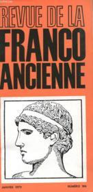Revue De La Franco Ancienne N°186 - Couverture - Format classique