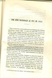 Une Fete Nationale Au Puy En 1654 / Destruction De L'Oratoire De Medicis A Marminhac 1562 - Couverture - Format classique