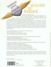 Le Guide Du Mariage - 4ème de couverture - Format classique