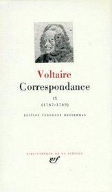 Correspondance (tome 9-juillet 1767 - septembre 1769) - Couverture - Format classique