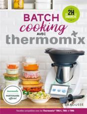 Batch cooking avec thermomix - Couverture - Format classique