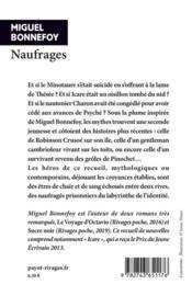 Naufrages - 4ème de couverture - Format classique