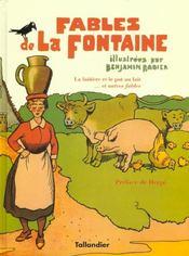 Fables de La Fontaine ; la laitière et le pot au lait... et autres fables - Intérieur - Format classique