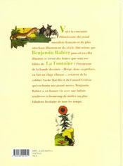 Fables de La Fontaine ; la laitière et le pot au lait... et autres fables - 4ème de couverture - Format classique