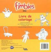 Fimbles ; Livre De Coloriage - 4ème de couverture - Format classique
