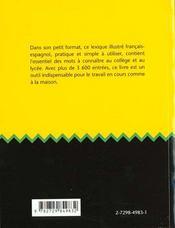 Lexico Basico Lexique Illustre Francais-Espagnol Tous Les Mots A Connaitre Du College Au Lycee - 4ème de couverture - Format classique