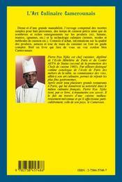 L'art culinaire Camerounais - 4ème de couverture - Format classique