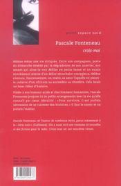 Crois-Moi - 4ème de couverture - Format classique