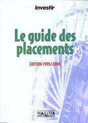 Guide De Vos Placements 1999 - Intérieur - Format classique